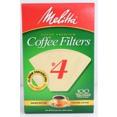 Melitta #4 Natural Coffee Filters: Cone